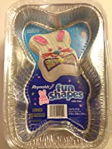 Reynolds Bunny Fun Shapes Foil Disposable Cake Pans Set of 2 with Lids