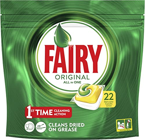 Fairy Original All in One Dishwasher Tablets Lemon 5 x 22 Pack, 110 Tablets
