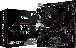 MSI B450M Pro-M2 AMD B450 Socket AM4 Micro ATX - Placa Base (DDR4-SDRAM, DIMM, 1866,2133,2400,2667,2800,2933,3000,3066,3200,3466 MHz, Dual, 32 GB, AMD)