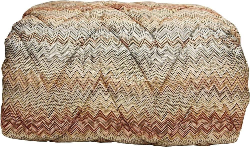 Missoni, trapunta invernale per letto matrimoniale double face,in 100% in raso di puro cotone di alta qualità JOHN VARIANTE 160