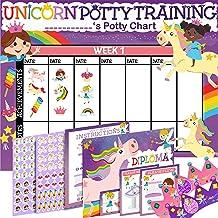 Potty Training Chart for Toddlers Girls, Unicorn Design - Sticker Chart, 4 Week Reward Chart - 213 Cute Stickers, Certific...