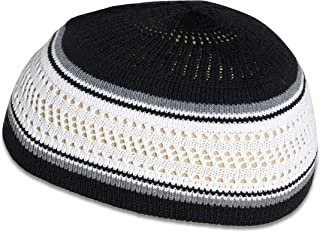 Stretchy Elastic Beanie Kufi Skull Cap Hats Featuring Cool Designs and Stripes