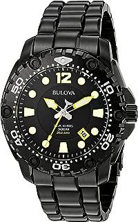 Men's 98B242 Sea King Analog Display Japanese Quartz Black Watch
