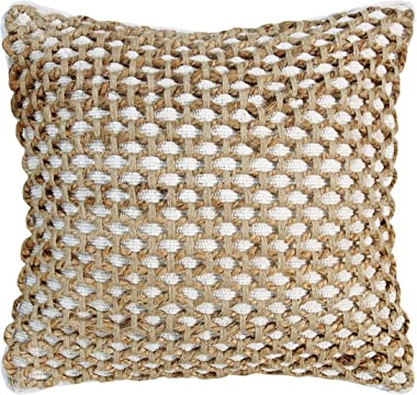 Boho Living Jada Decorative Pillow Pillows, 20 in x 20 in x 6.5 in, White