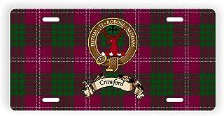 Crawford Scotland Clan Tartan Novelty Auto Plate