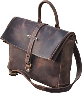 f003137e8c Sac & Agrave; Unisex Vintage Leather Bandouli re - Notebook, Books - Made &