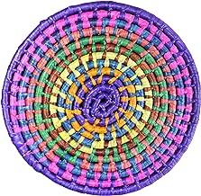 """2 件装天然手掌热垫手工编织彩色锅架墨西哥制造(选择尺寸和颜色) 紫色 8"""" Wide"""