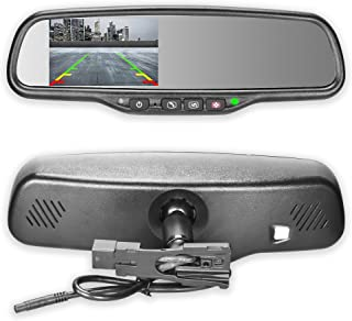 Master Tailgaters OEM Rear View Mirror with 4.3 Auto Adjusting Ultra Bright LCD and OnStar Buttons(for Backup Cameras) - Connects to Your Existing OnStar Wiring