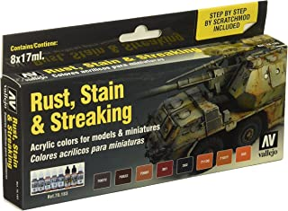 Vallejo 70183 Model Colour Rust, Stain & Streaking Acrylic Paint Set