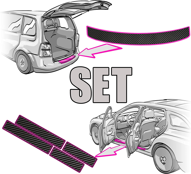 Einstiegsleisten Set Ladekantenschutz Rakel Anleitung In 3d Carbon Schwarz Folie Passende Schutzfolie Von Ccw Auto