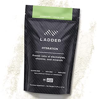 LADDER Sport Hydration Lemon Lime - Essential Electrolytes: Sodium, Potassium, Magnesium, Calcium, Vitamin D, Zinc, No Art...