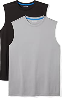 f55b9a4ebb81c Amazon Essentials Men s 2-Pack Performance Muscle T-Shirts