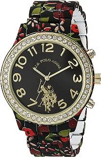 u.s. polo assn. De la Mujer Aleación de metal y de cuarzo reloj, Modelo: dos tono de color (: usc40108)