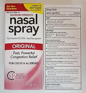Original Perrigo Original Nasal Spray 12 Hour Spray 1 Fl Oz. (30ml) Pack of Two