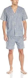 Men's Broadcloth Short Sleeve Pajama Set