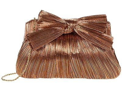 Loeffler Randall Rayne Pleated Frame Clutch with Bow (Dark Rose Gold) Handbags