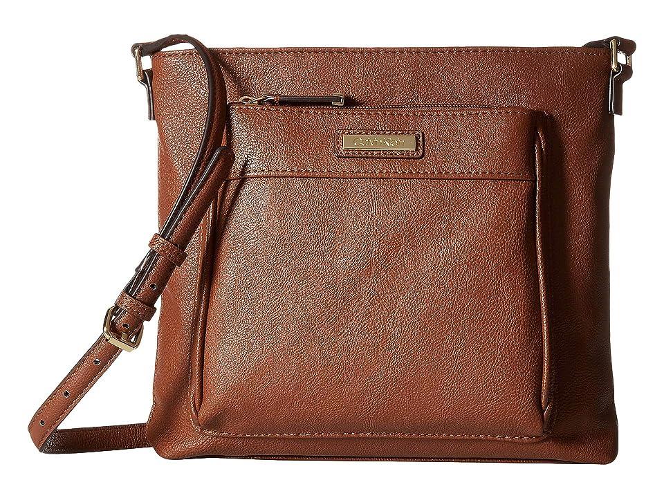 Calvin Klein Novelty Top Zip North/South Crossbody (Luggage) Cross Body Handbags