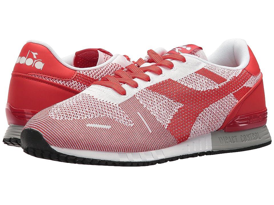 Diadora Titan Weave (White/White/Red) Athletic Shoes