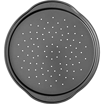 Wilton Perfect Results Non-Stick Crisper, 14-Inch Pizza Pan, 0, Silver