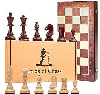 Amazinggirl Echecs Jeu Le Grand Echiquier en Bois 40 cm - Tournoi Echec Jeux d'echec Chess, Echequiers Pièces pour Adulte ...