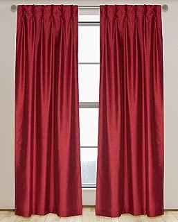 LJ Home Fashions 574 ZOI Lined Faux Silk Pinch Pleat Tab Top Curtain Panel Pair, 30
