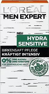 L'Oréal Paris Män Expert ansiktsvård för män, ansiktskräm utan alkohol eller parabener, Hydra Sensitive fuktkräm, 1 x 50 ml