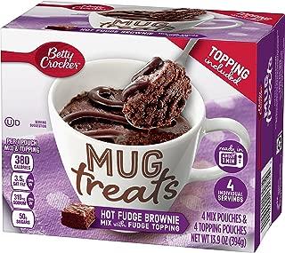 Betty Crocker Baking Mug Treats Hot Fudge Brownie Mix with Topping, (Pack of 6)