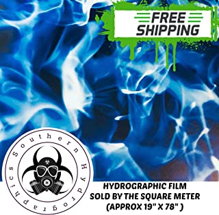 Hydrographics Film Water Transfer Printing Film Hydro Dipping Dip Film Hydrographic Film Square Meter Extreme Flames Blue Fire Flames