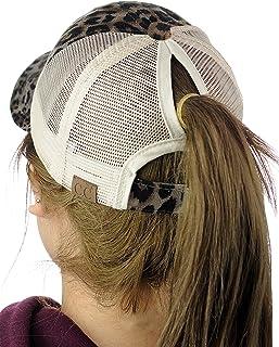 86bdab86011 C.C Ponycap Messy High Bun Ponytail Adjustable Mesh Trucker Baseball Cap Hat