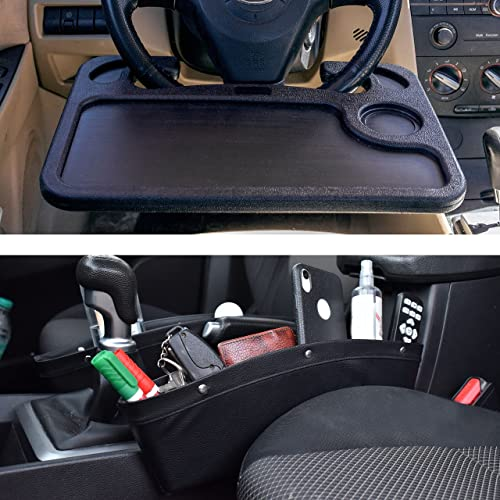 2021 EcoNour outlet online sale Gift Bundle   Car lowest Steering Wheel Desk (2in1) + Car Seat Gap Filler & Organizer (2 Pack)   Multipurpose Traveling Tray   Car Seat Crevice Storage Box   Catcher & Holder with Dividers online
