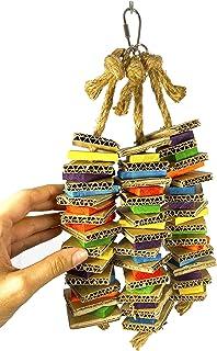 Birds LOVE Chew-Tastic Triple Tower of Shredded Fun Small Bird Toy for Green Cheek Conures Sun Conures Caiques Senegals Qu...