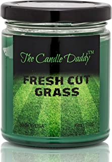 Fresh Cut Grass Candle- 6 oz jar Candle- up to 40 Hour Burn time