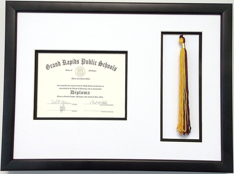 High School Graduation Certificate Max 59% OFF Document Tassel with 6x8 Cheap bargain Open