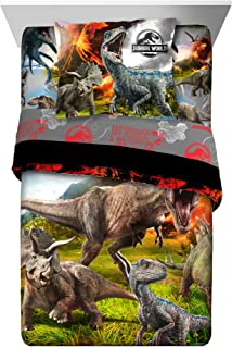 Jurassic World 2 New 2018 5-Piece Twin Comforter and Sheet Set Bedding Collection with Blankets, Pillowcases and Sham