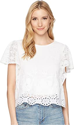 Lucky Brand - Eyelet Top