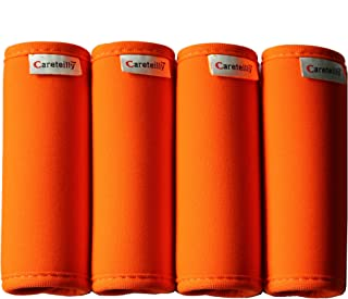Neoprene Luggage Handle Wrap And Tags Fluorescent Orange Luggage Identifiers For Traveling Dumbbells Wrap