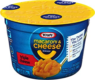Kraft Easy Mac Triple Cheese Microwavable Cup (2.05 oz Cups, Pack of 10)