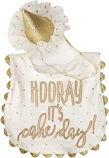 Mud Pie Baby Girls' Cake Smashing Set-bib and Crown Headband