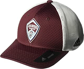 superior quality e31d5 6f71b MLS Colorado Rapids Men s Meshback Structured Flex Hat, Small Medium, Maroon