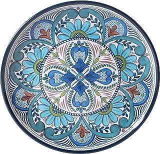 أطباق ميلامين مستديرة 14 بوصة من Certified International Talavera، متعددة الألوان