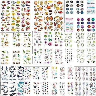 comprar comparacion 72 Hojas Pegatinas,Pegatina de Planta Natural, Animal, Cielo Estrellado.DIY Manualidades Decoración Scrapbooking Álbumes d...