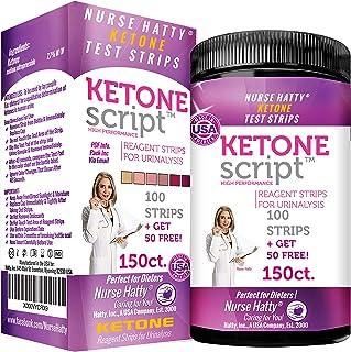 Nurse Hatty - Keto Strips – Fresh – USA-Made – High-Performance (150ct. Long Ketone Test Strips)