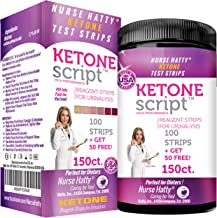 Nurse Hatty - Keto Strips – Fresh – USA-Made – High-Performance – eBook Incl. (150ct. Long Ketone Test Strips)