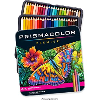 Prismacolor 3598T 48 Piece Prismacolor Colored Art Pencil Set, Multicolor