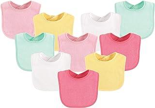 Luvable Friends 10-Piece Baby Bibs, Amarillo Solid, Una talla