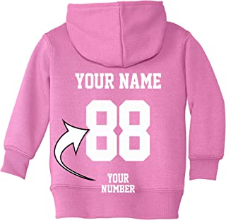 Custom Zip Up Toddler Hoodies - DESIGN YOUR OWN JERSEY - Hooded Team Sweaters