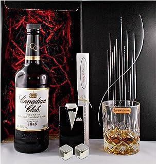 Geschenk Canadian Club Kanadischer Whisky  Whiskey Glas  2 Kühlsteine
