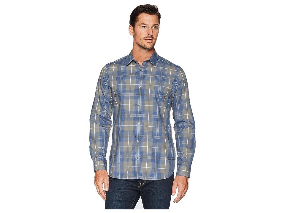 Calvin Klein Plaid Sport Shirt (Green Dust) Men