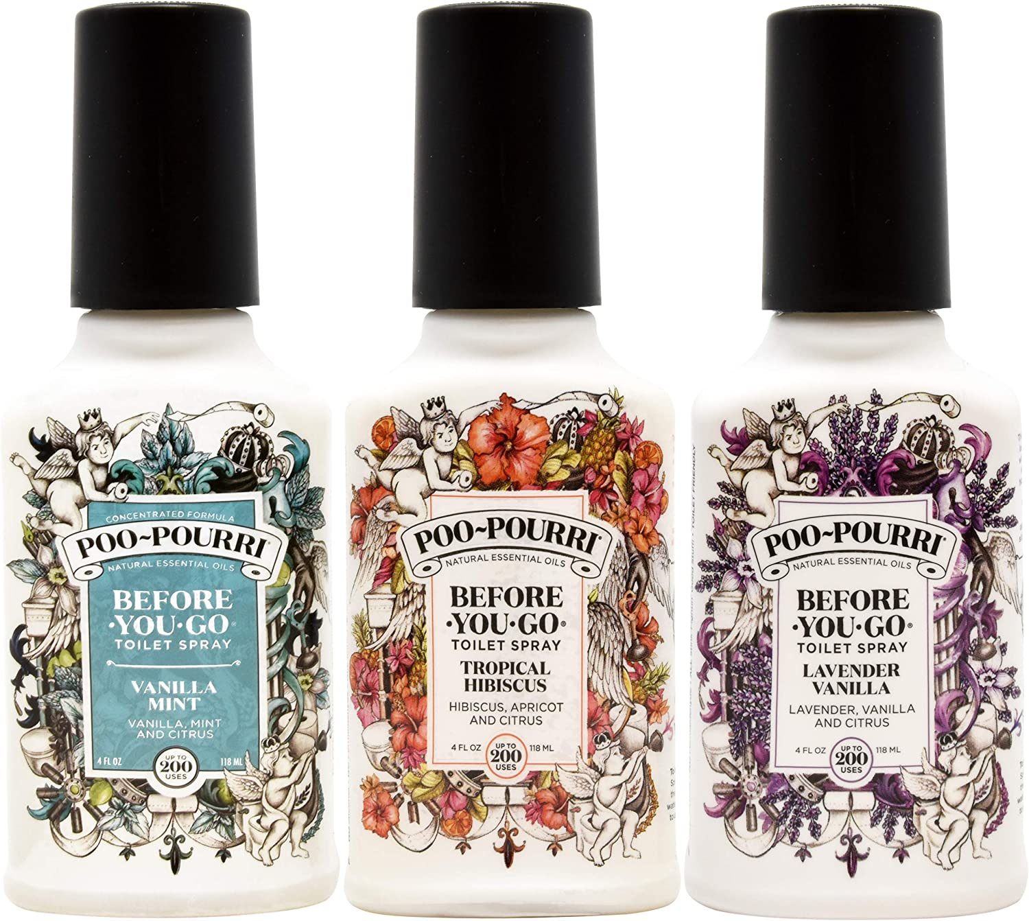Poo-Pourri Lavender Vanilla Tropical and Purchase Mint All items free shipping Hibiscus