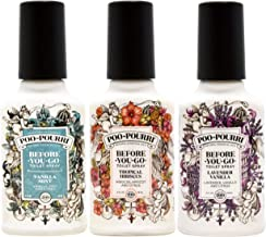 product image for Poo-Pourri Lavender Vanilla, Tropical Hibiscus and Vanilla Mint 4-Ounce Set